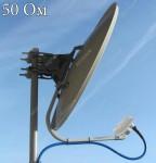 Пример установки STV-3G-Offset облучателя с антенной 60см